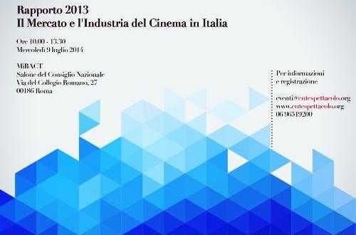 I numeri della settima arte: Rapporto 2013