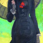 Dama con ombrello. Mrs Newton