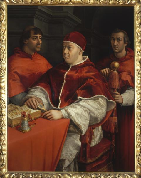 Raffaello Sanzio, ritratto di Papa Leone X