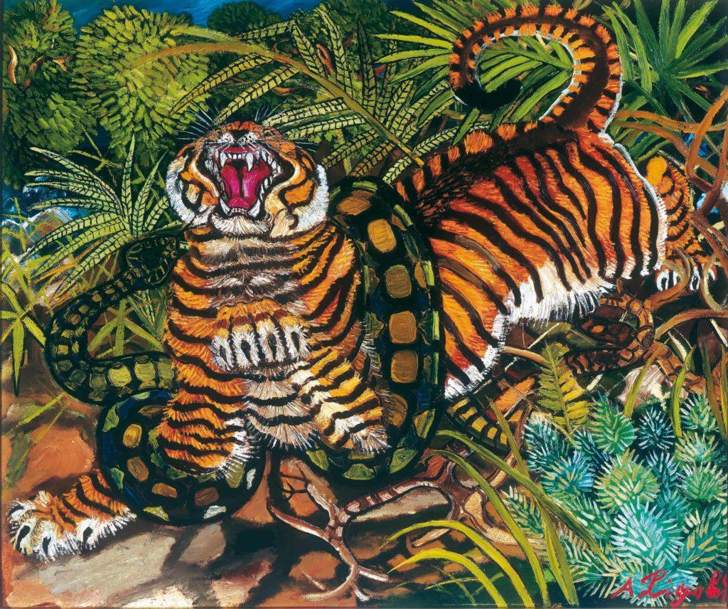 antonio-ligabue-tigre-assalita-dal-serpente-olio-su-faesite-cm-66-x-80