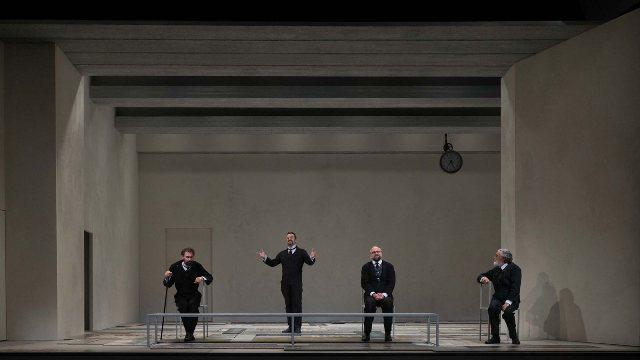 Un momento dello spettacolo Lehman Trilogy, al teatro Argentina fino al 18 dicembre
