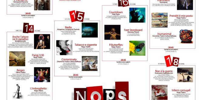Dal 13 al 18 dicembre teatro emergente a confronto con il NOPS