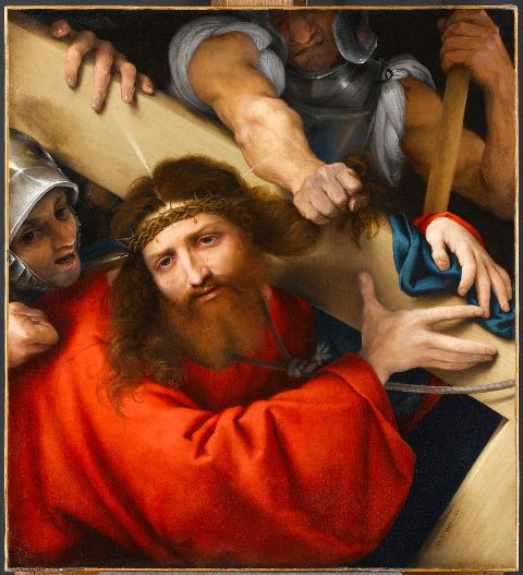 Cristo portacroce, Lorenzo Lotto 1526 - Olio su tela