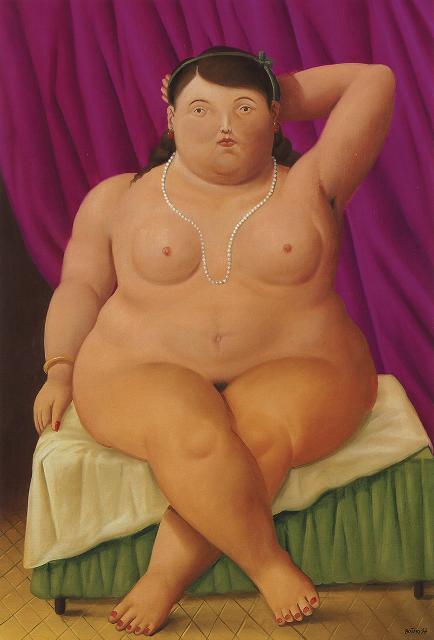 Fernando Botero - Donna seduta (1997) - Olio su tela 134x92 cm