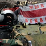 Militanti di Pravi Sektor, movimento ultranazionalista, a Kiev