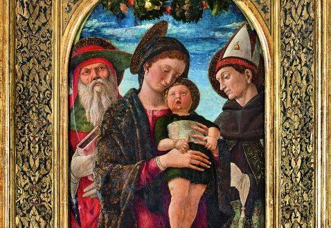 2. Mantegna, Madonna con bambino