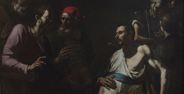 Gregorio e Mattia Preti, Cristo guarisce l'idropico, 1630