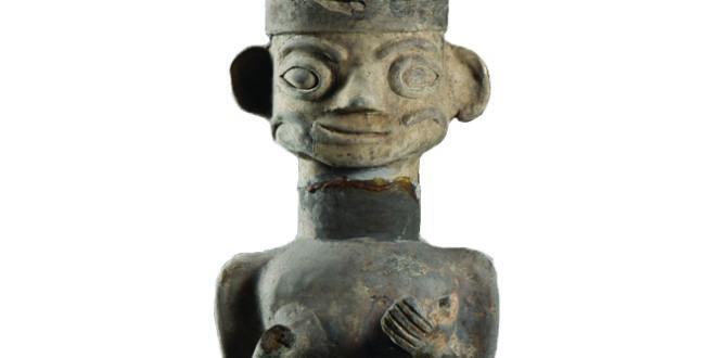 Museo di Chengdu_Statuetta funeraria in terracotta; Periodo Cheng Han (306-347 d.C.)_altezza 25 cm