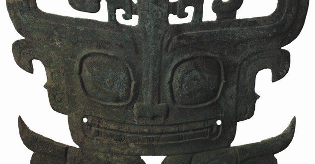 Museo di Sanxingdui_Maschera di bronzo animale; Periodo Shang (1600-1046 a.C.)_altezza 20,8 cm, larghezza 26,9 cm, spessore 0,4 cm