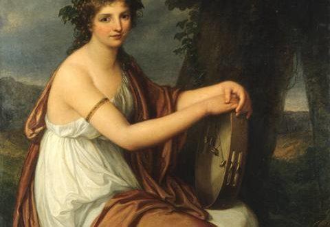 Angelica Kauffmann – Ritratto di giovinetta in veste da baccante