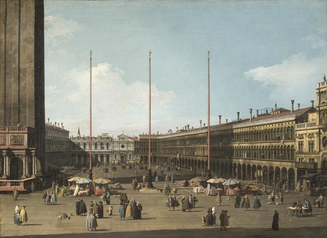 Canaletto – veduta di piazza San Marco con le Procuratie