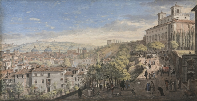 Gaspar Van Wittel – Roma Villa Medici