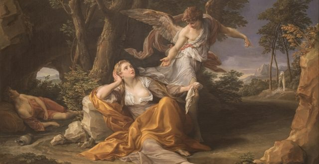 Pompeo Batoni – Agar e Angelo