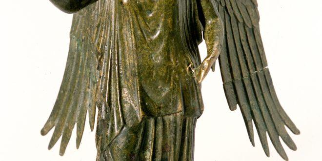 Statuetta in bronzo di Vittoria Br 67 ÔÇô Lugdunum mus+¿e & theatres romains, Lione