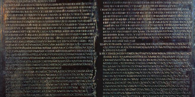 Tabula Claudiana, bronzo, inv. AD 12 – Lugdunum mus+¿e & theatres romains, Lione