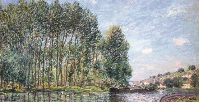 Alfred Sisley – Tournant du Loing à Moret. Printemps, 1886