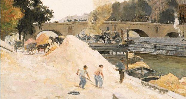 Camille Pissarro – Au bord de la Seine à Paris. Le Pont-Marie vu depuis le quai d'Anjou, 1875 circa