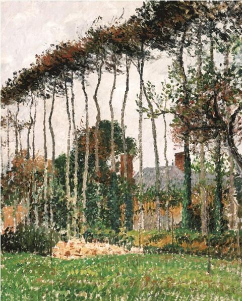 Camille Pissarro – Les grands hêtres à Varengeville, 1899