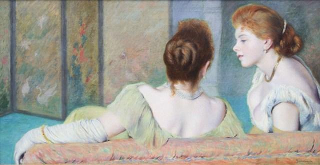 Federico Zandomeneghi – Sul divano, 1885-1890 circa