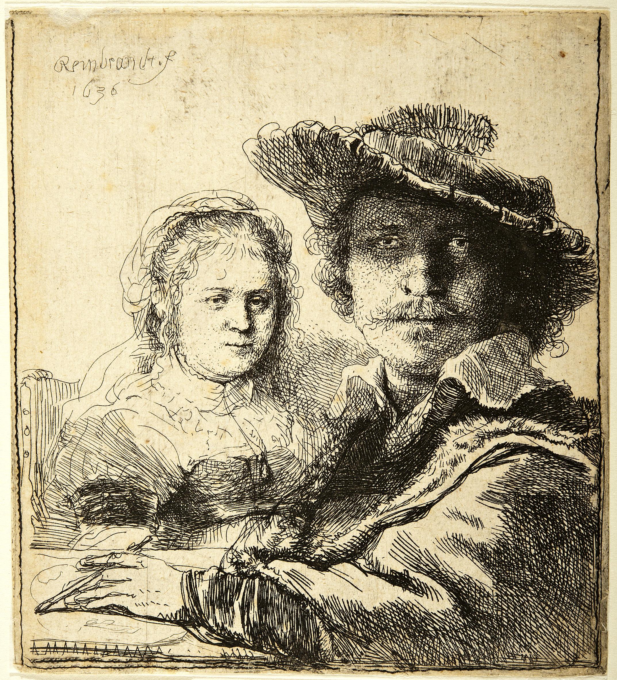 Rembrandt – Autoritratto con moglie