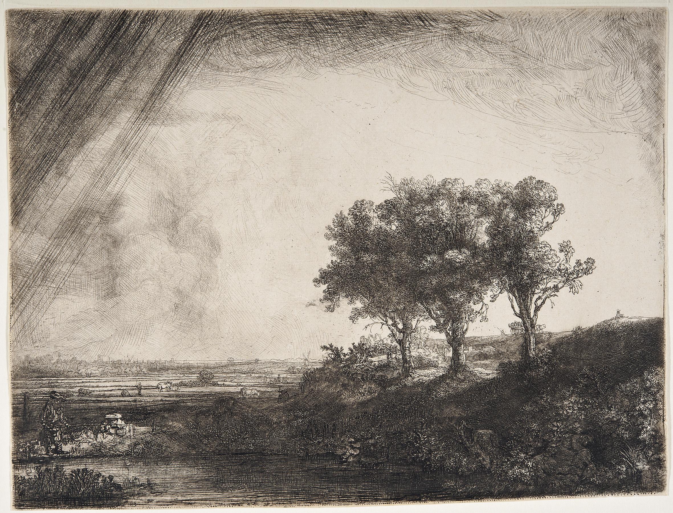 Rembrandt – Tre alberi