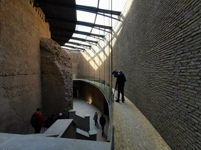 Mausoleo di Augusto – nuove passerelle scalone