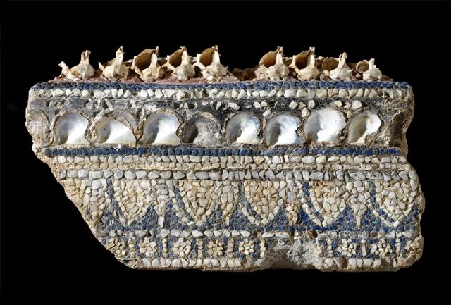 Antiquarium Comunale, Cornice di mosaico parietale con conchiglie