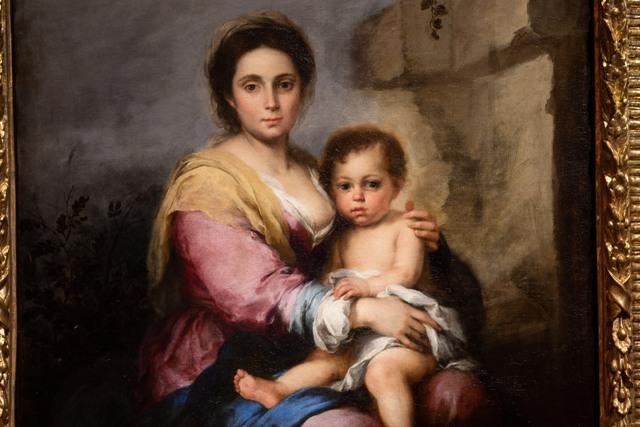 Bartolom®Murillo Madonna del latte POSTRESTAURO particolare Foto Alberto Novelli