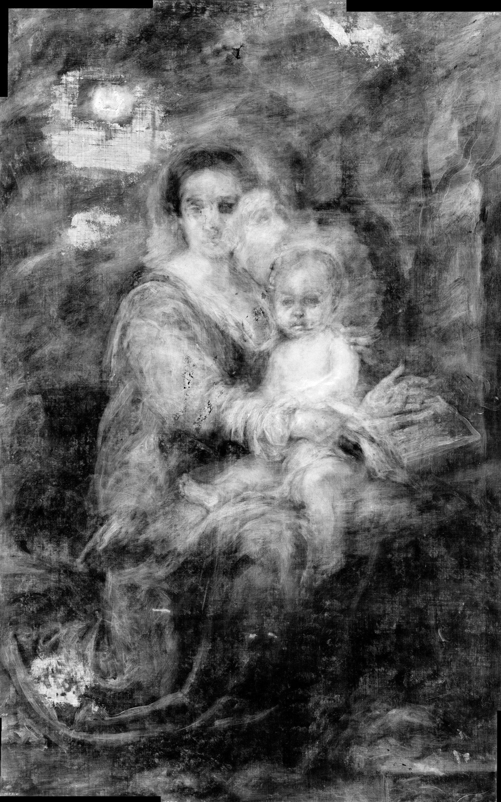 Bartolom®Murillo Madonna del latte Radiografia