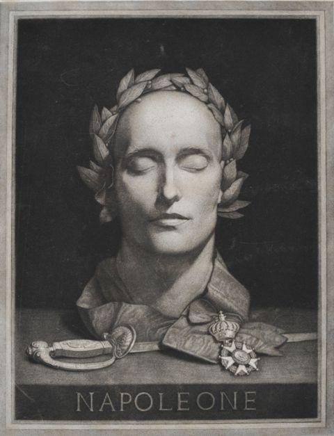 Luigi Calamatta – Lucio Quirino Lelli- Maschera funeraria di Napleone
