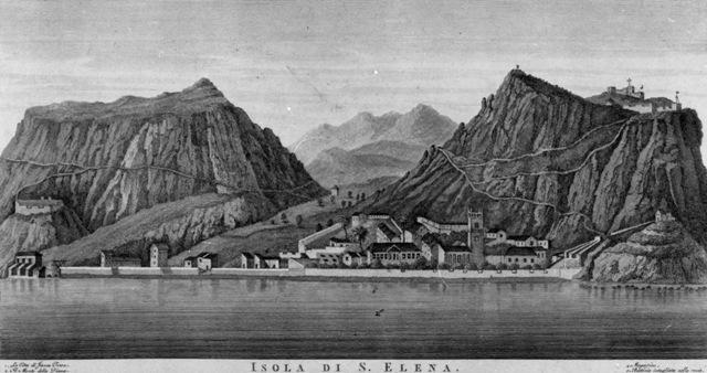 Vincenzo Aloja – Veduta Isola di Sant'Elena